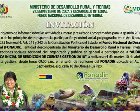 <span id='sec'>En el departamento de La Paz:</span><br><span id='prim'>INVITACIÓN</span>