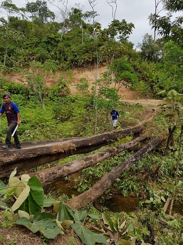 Inicio de la construcción del puente Benigno Ayala en el municipio de Puerto Villarroel