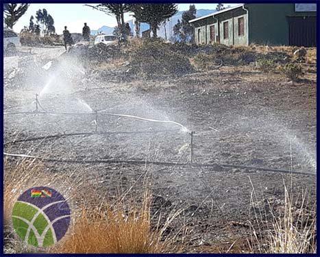 <span id='sec'>Tiraque - Cochabamba:</span><br><span id='prim'>Gobierno invierte más 2 millones de bolivianos, en sistema de riego para Tiraque</span>