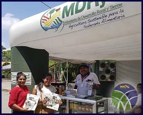 <span id='sec'>Chimoré - Cochabamba:</span><br><span id='prim'>Gobierno informa en feria sobre el apoyo al sector agroproductivo del trópico de Cochabamba</span>