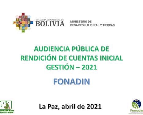 RENDICIÓN PÚBLICA DE CUENTAS – INICIAL 2021