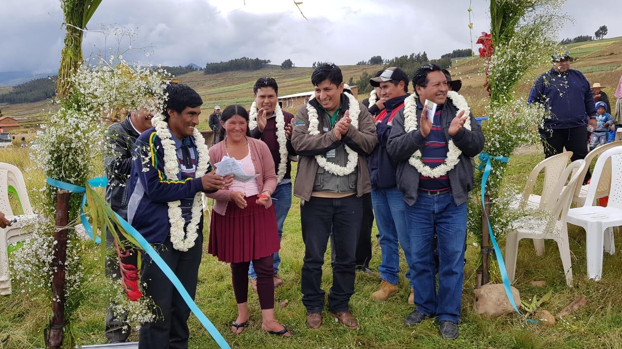 Inicio de construcción de sistema de riego Cochimita, Tiraque – Cochabamba