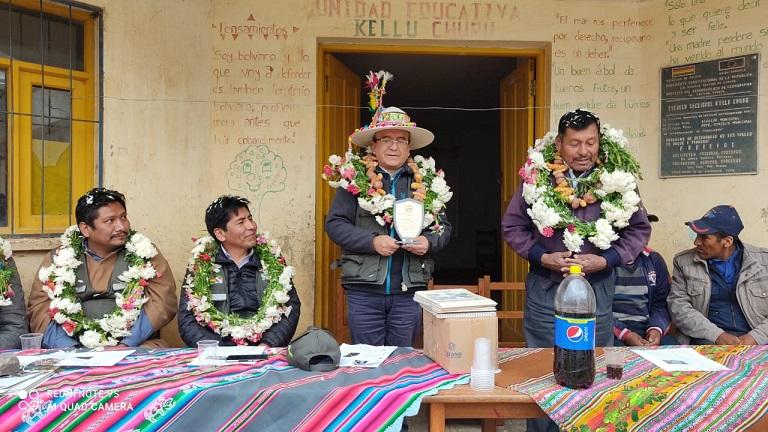 Entrega de Sistema de Riego en el municipio de Tapacarí